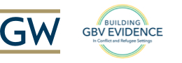 GW - Building GBV Evidence in Conflict and Refugee Settings